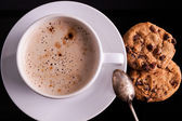 Cup of Cappuccino with cookies — Stock Photo