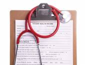 Medical Chart and stethoscope — Foto de Stock