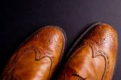Elegant gentleman Leather Shoe — Stock Photo