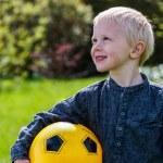 Preschool Child with Soccer ball — Stock Photo #72118291