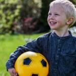 Preschool Child with Soccer ball — Stock Photo #72118307