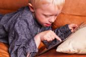 Child with Digital tablet — Stock Photo