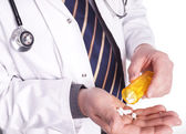 Doctor with Medicin in Hand — Stock Photo