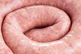 Raw homemade sausage — Stock Photo