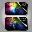 Collection of gift cards with ribbons. — Vector de stock  #52946273