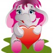Very Cute baby elephant sitting and smiling — Stock Vector #52947197