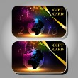 Collection of gift cards with ribbons. — Vector de stock  #52947353