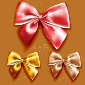Gift bows with ribbons — Wektor stockowy