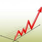 Gráfico de negocios — Vector de stock