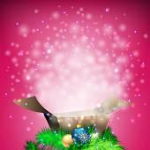 背景与打开的礼物 — 图库矢量图片