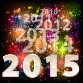 К 2015 году с новым годом празднования фон для ваших плакатов — Cтоковый вектор