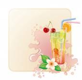 Fresh Cocktail — Stock Vector