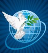 Pigeon de la paix — Vecteur
