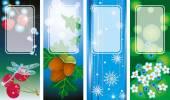 Four Seasonal Backgrounds — Stock Vector