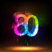 Number eighty — Stock Vector