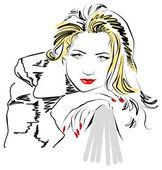 Belle femme de mode — Vecteur