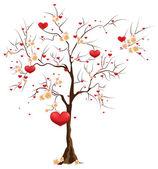 Tree with hearts — Stock Vector