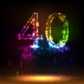 Number forty — Stockvector