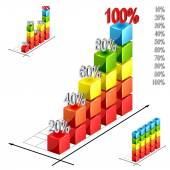 Illustration of bar graph — Stock Vector