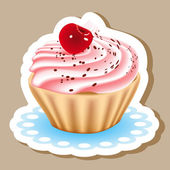 Dessert with cream covered — Stock vektor
