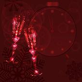 Champagne glasses — Vector de stock