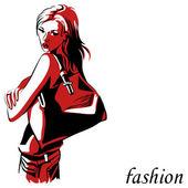Fashion model — Stock Vector