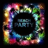 Summer Beach Party Vector Flyer. — Stock Vector