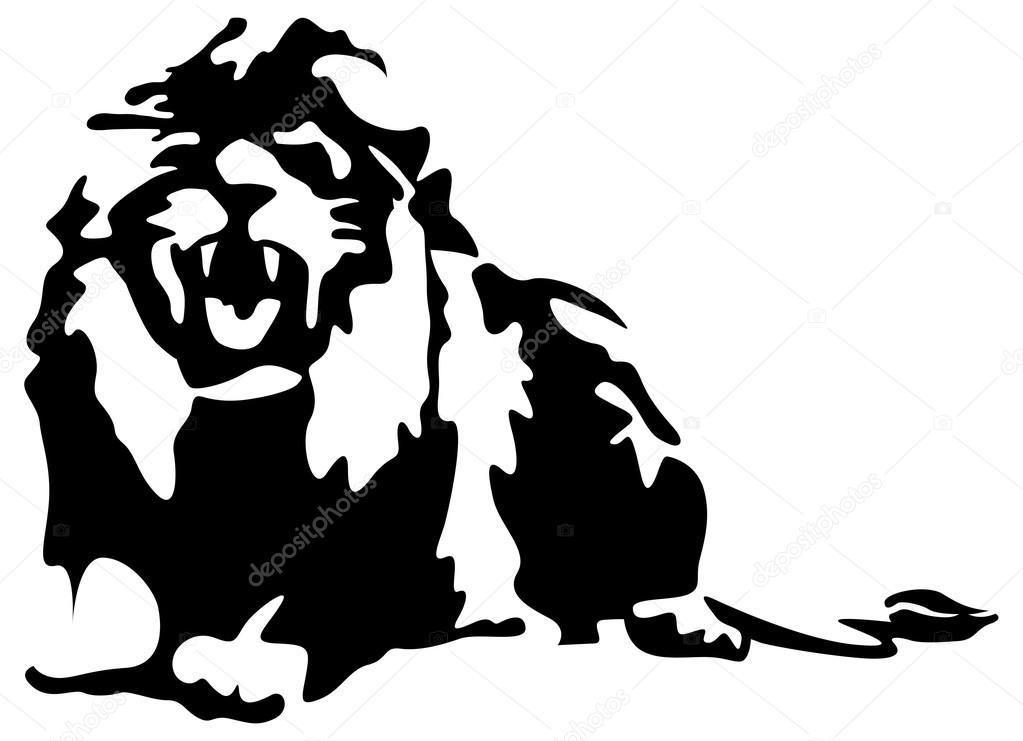 Lion roar vector - photo#14