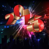 Happy new year celebration background — Stock Vector