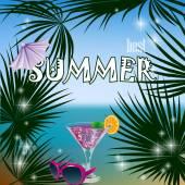 Summer poster — Stock Vector