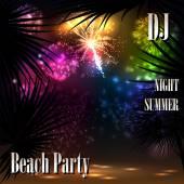 Summer Beach Party Flyer - Vector Design — Stock Vector