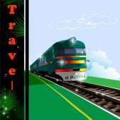 Train, railway — Stock Vector