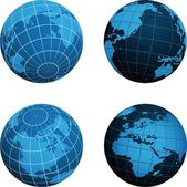 Dünya harita düzeni — Stok Vektör