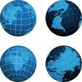 Esquema del mapa de tierra — Vector de stock