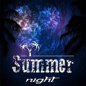 Summer night — Stock Vector