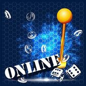 Casino parti vektör — Stok Vektör