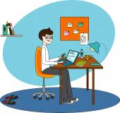 Freelancer — Stock Vector