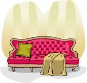 Sofa — Stock Vector
