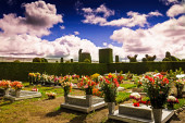 A glimpse into a columbian cemetery, south america — Stock Photo