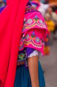Traditional folk costume, Ecuador, south america — Stock Photo