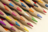 Collection of colored wooden pencils — Stock Photo