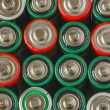 Collection of old batteries — Stock Photo #67916909
