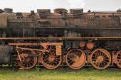 Old rusted steam locomotive in the Netherlands — Stock Photo