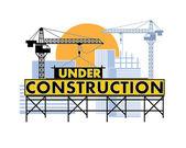 Bajo color de construcción — Vector de stock