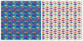 Small fish pattern — Stock Vector