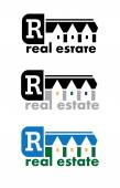 Real Estate Sign — Stock Vector