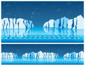 The polar ice — Stock Vector