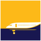 Airliner — Stock Vector