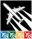 Plane symbol — Stock Vector