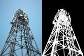 High telecommunications tower — Stock Photo